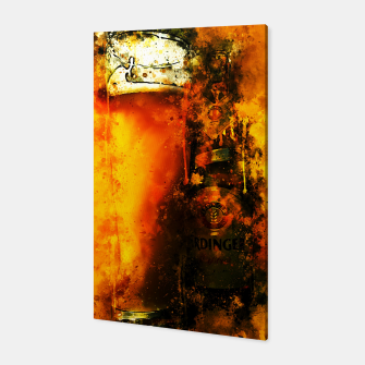 Thumbnail image of gxp refreshing yeast wheat beer splatter watercolor Canvas, Live Heroes