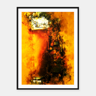 Thumbnail image of gxp refreshing yeast wheat beer splatter watercolor Framed poster, Live Heroes