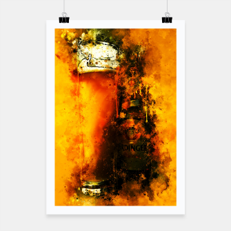 Thumbnail image of gxp refreshing yeast wheat beer splatter watercolor Poster, Live Heroes