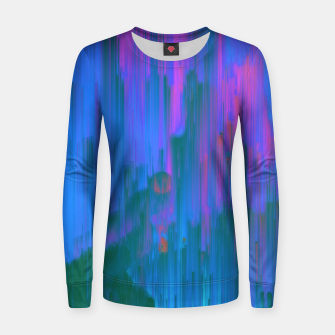 Thumbnail image of Neon Noir - Glitchy Abstract Pixel Art Women sweater, Live Heroes
