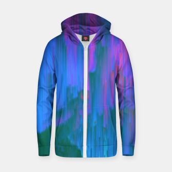 Miniaturka Neon Noir - Glitchy Abstract Pixel Art Zip up hoodie, Live Heroes
