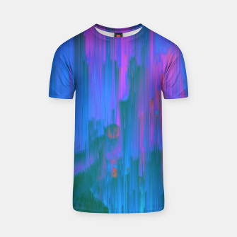 Thumbnail image of Neon Noir - Glitchy Abstract Pixel Art T-shirt, Live Heroes