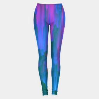 Thumbnail image of Neon Noir - Glitchy Abstract Pixel Art Leggings, Live Heroes