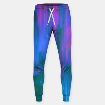 Thumbnail image of Neon Noir - Glitchy Abstract Pixel Art Sweatpants, Live Heroes