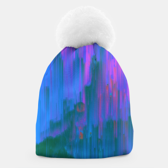 Thumbnail image of Neon Noir - Glitchy Abstract Pixel Art Beanie, Live Heroes