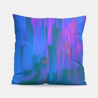 Thumbnail image of Neon Noir - Glitchy Abstract Pixel Art Pillow, Live Heroes