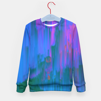 Miniaturka Neon Noir - Glitchy Abstract Pixel Art Kid's sweater, Live Heroes