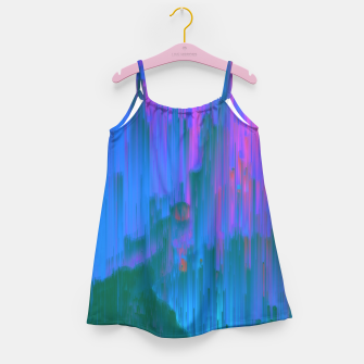 Thumbnail image of Neon Noir - Glitchy Abstract Pixel Art Girl's dress, Live Heroes