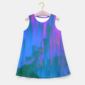 Thumbnail image of Neon Noir - Glitchy Abstract Pixel Art Girl's summer dress, Live Heroes