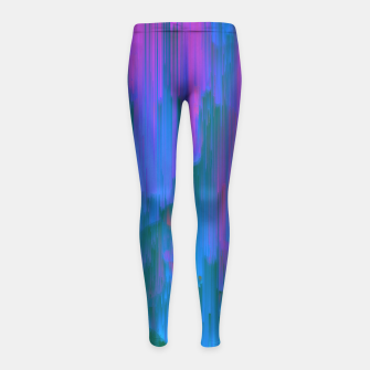 Miniaturka Neon Noir - Glitchy Abstract Pixel Art Girl's leggings, Live Heroes