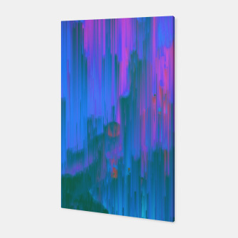 Miniaturka Neon Noir - Glitchy Abstract Pixel Art Canvas, Live Heroes