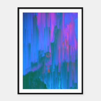 Thumbnail image of Neon Noir - Glitchy Abstract Pixel Art Framed poster, Live Heroes