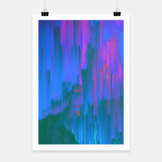 Thumbnail image of Neon Noir - Glitchy Abstract Pixel Art Poster, Live Heroes