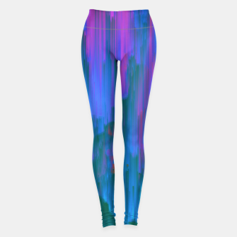 Miniatur Neon Noir - Glitchy Abstract Pixel Art Leggings, Live Heroes