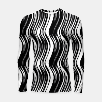 Miniatur Black White and Grey Abstract Pattern  Longsleeve rashguard , Live Heroes
