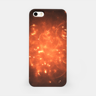 Thumbnail image of Stellar Fireball Abstract Fractal Art Design iPhone Case, Live Heroes