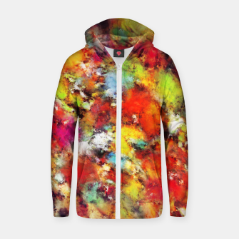 Thumbnail image of Big colour storm Zip up hoodie, Live Heroes