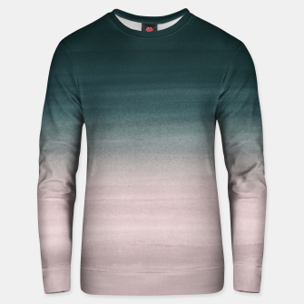 Thumbnail image of Touching Teal Blush Watercolor Abstract #1 #painting #decor #art Unisex sweatshirt, Live Heroes