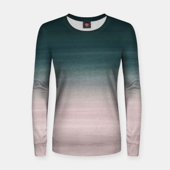 Thumbnail image of Touching Teal Blush Watercolor Abstract #1 #painting #decor #art Frauen sweatshirt, Live Heroes