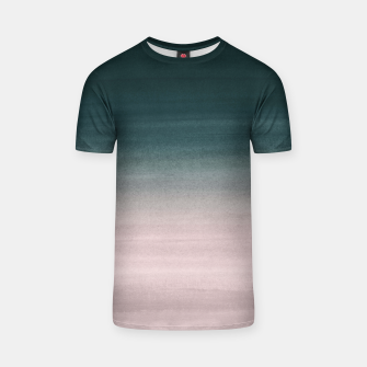 Thumbnail image of Touching Teal Blush Watercolor Abstract #1 #painting #decor #art T-Shirt, Live Heroes