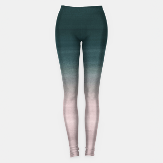 Thumbnail image of Touching Teal Blush Watercolor Abstract #1 #painting #decor #art Leggings, Live Heroes