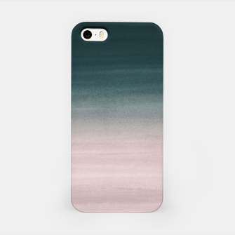 Thumbnail image of Touching Teal Blush Watercolor Abstract #1 #painting #decor #art iPhone-Hülle, Live Heroes