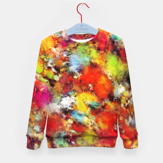 Thumbnail image of Big colour storm Kid's sweater, Live Heroes