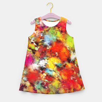Thumbnail image of Big colour storm Girl's summer dress, Live Heroes