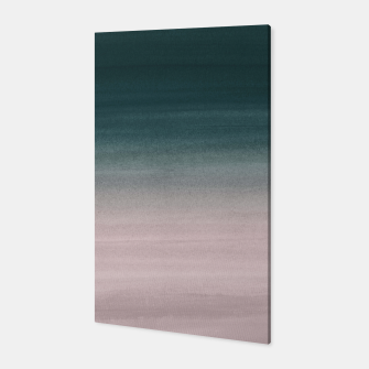 Thumbnail image of Touching Teal Blush Watercolor Abstract #1 #painting #decor #art Canvas, Live Heroes