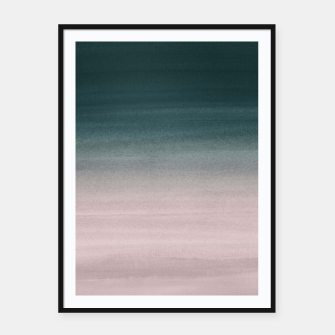 Thumbnail image of Touching Teal Blush Watercolor Abstract #1 #painting #decor #art Plakat mit rahmen, Live Heroes