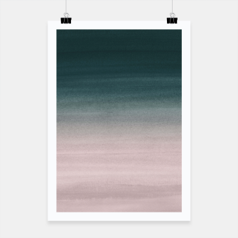 Thumbnail image of Touching Teal Blush Watercolor Abstract #1 #painting #decor #art Plakat, Live Heroes