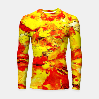 Miniatur gxp golden autumn leaves watercolor Longsleeve rashguard , Live Heroes