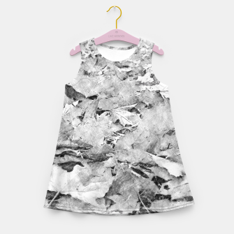 Thumbnail image of gxp black white autumn leaves pencil sketch Girl's summer dress, Live Heroes