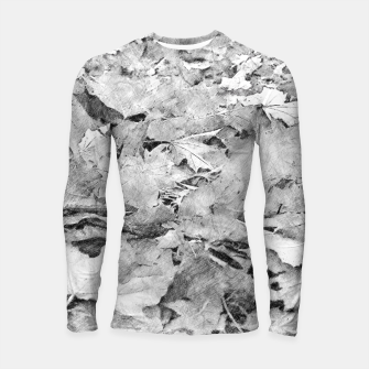 Miniatur gxp black white autumn leaves pencil sketch Longsleeve rashguard , Live Heroes