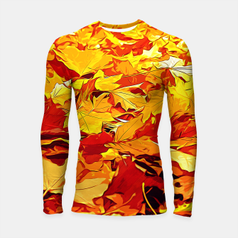 Miniatur gxp golden autumn leaves vector art Longsleeve rashguard , Live Heroes