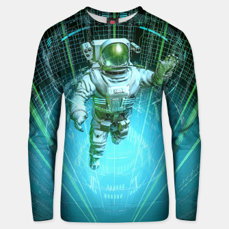 Diving The Data Core Astronaut Unisex sweater thumbnail image