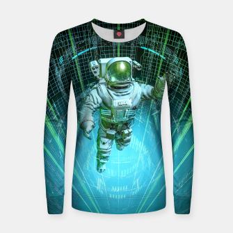 Thumbnail image of Diving The Data Core Astronaut Women sweater, Live Heroes