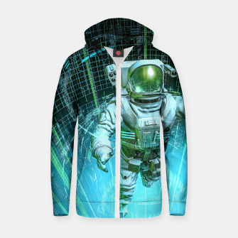 Diving The Data Core Astronaut Zip up hoodie thumbnail image