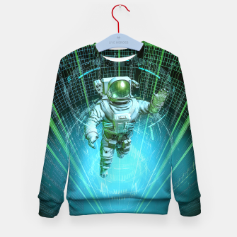 Diving The Data Core Astronaut Kid's sweater thumbnail image