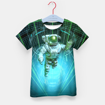 Thumbnail image of Diving The Data Core Astronaut Kid's t-shirt, Live Heroes