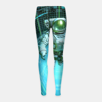 Diving The Data Core Astronaut Girl's leggings thumbnail image