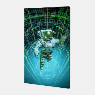 Diving The Data Core Astronaut Canvas thumbnail image