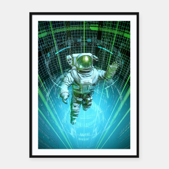 Thumbnail image of Diving The Data Core Astronaut Framed poster, Live Heroes
