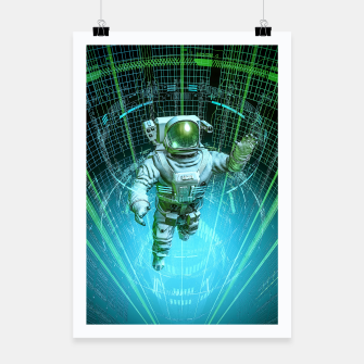 Thumbnail image of Diving The Data Core Astronaut Poster, Live Heroes