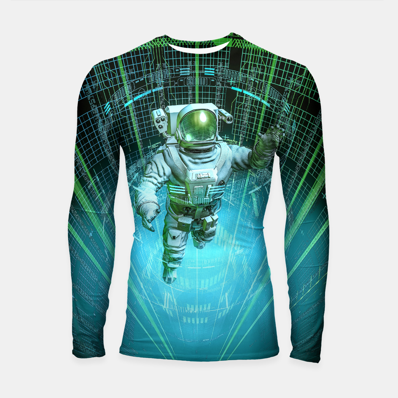 Image of Diving The Data Core Astronaut Longsleeve rashguard  - Live Heroes