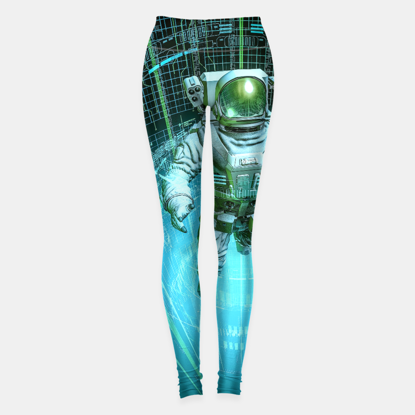 Image of Diving The Data Core Astronaut Leggings - Live Heroes