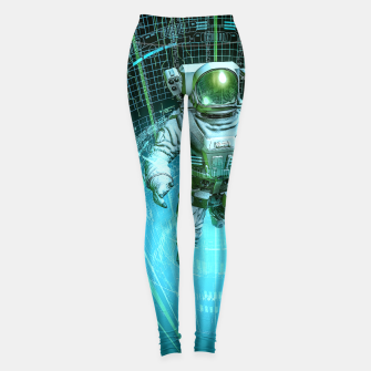 Thumbnail image of Diving The Data Core Astronaut Leggings, Live Heroes