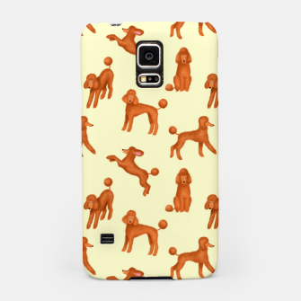 Miniaturka Red Poodles Pattern (Light Yellow Background) Samsung Case, Live Heroes