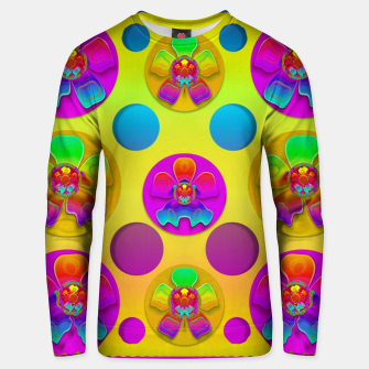 Thumbnail image of Power flowers in festive flower power festival pop art Unisex sweater, Live Heroes