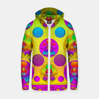 Thumbnail image of Power flowers in festive flower power festival pop art Zip up hoodie, Live Heroes